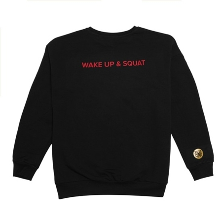 WAKE UP AND SQUAT ACTIVE - SWEATSHIRT BLACK/RED