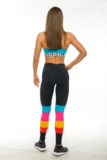 NEBBIA - LEGGINSY RAINBOW N278 BLACK (PUSH UP)
