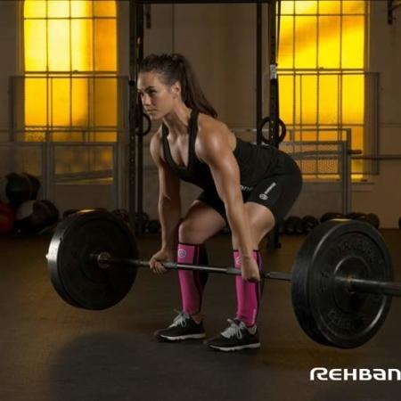 Rehband- Ochraniacz piszczeli damski Rehband 106312 Rx różowy