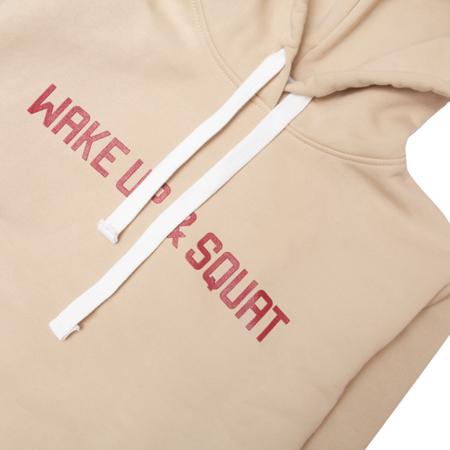 WAKE UP AND SQUAT - GIRLS HOODIE (khaki)