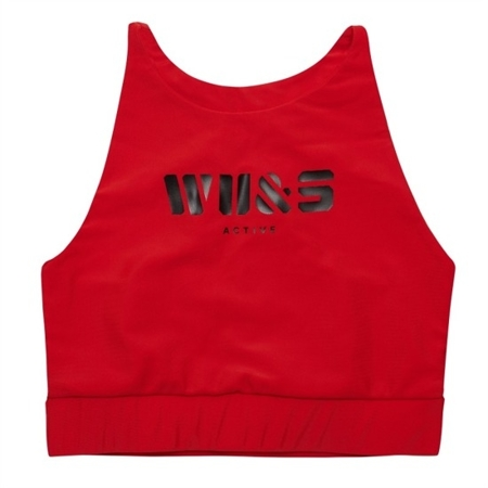WAKE UP AND SQUAT ACTIVE - BRA TOP RED