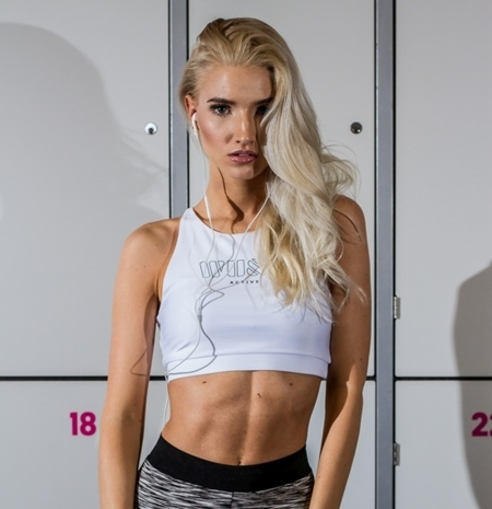 WAKE UP AND SQUAT ACTIVE - BRA TOP WHITE