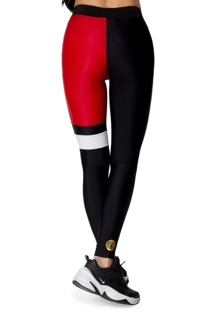 WAKE UP AND SQUAT ACTIVE - LEGGINSY BLACK/RED