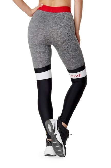 WAKE UP AND SQUAT ACTIVE - LEGGINSY GREY/BLACK