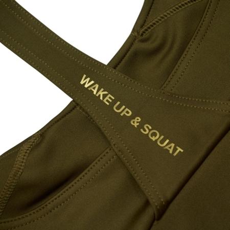 WAKE UP AND SQUAT - MIX&MATCH BRA TOP (KHAKI)