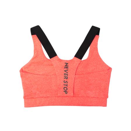 WAKE UP AND SQUAT - Stanik Sportowy NEVER STOP (orange)