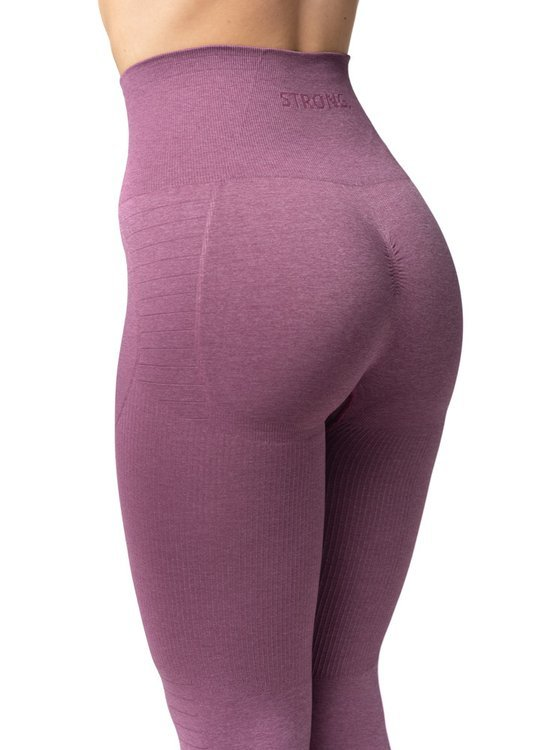 Bezszwowe Legginsy Double Push Up Revolution. Dusty Rose