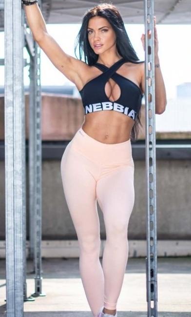 NEBBIA - Biustonosz sportowy CROSSED MODEL N622 BLACK