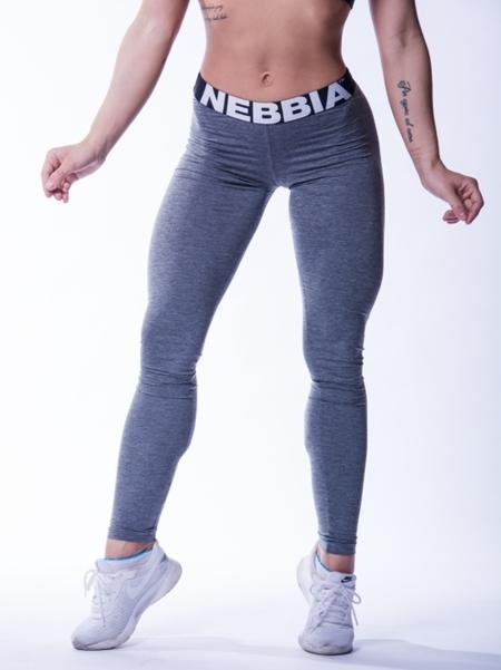 NEBBIA - Legginsy MELANGE MODEL N222 DARK GREY