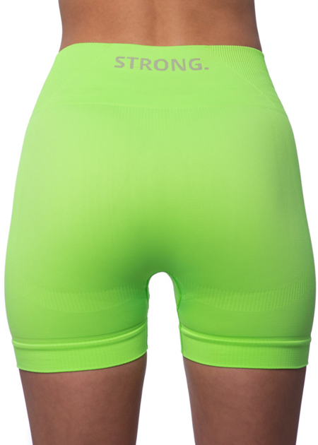 STRONG. - BEZSZWOWE SPODENKI NEON YELLOW-GREEN (PUSH UP)