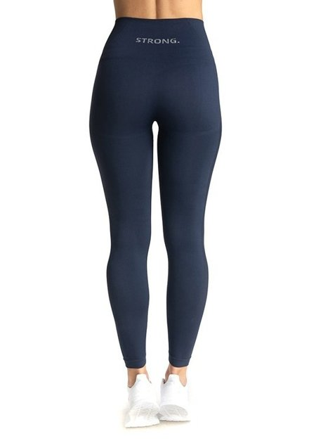 "STRONG. - LEGGINSY BEZSZWOWE ""24H"" NAVY BLUE (PUSH UP)"