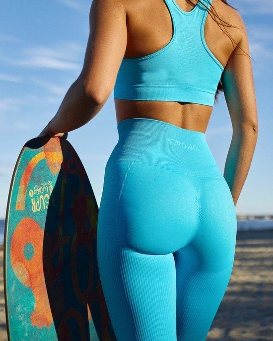 Strong. Legginsy Double Push Up Revolution. Ocean Blue.